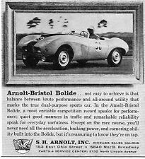 1957 S H Arnolt Bristol Bolide A True Dual Purpose Sports Car Print Ad