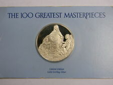TheVirgin of theRocks 100 Greatest Masterpieces Franklin mint solid Ss medal