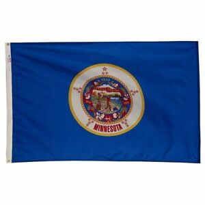 3x5 ft MINNESOTA The Gopher State OFFICIAL STATE FLAG OUTDOOR NYLON MADE IN USA