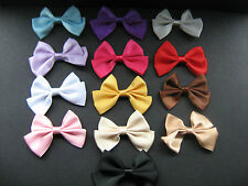 Large Satin Bow Embellishment Many Colours X 2 Sewing/Costume/Crafts/Bridal