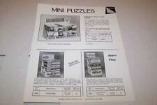 Vintage WARREN PAPER PRODUCTS - MINI PUZZLES ad sheet #0229