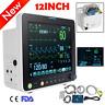 "LCD 12"" ICU CCU Vital Signs Patient Monitor 6 Paras SpO2/PR/NIBP/ECG/RESP/TEMP"