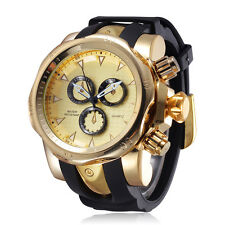 SHHORS Men Military Watches leisure Sport Watch Silicone Band casual Quartz