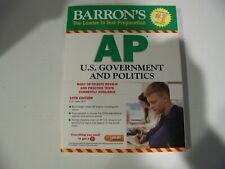 BARRON'S AP U.S. GOVERNMENT & POLITICS - The Leader in test prep [New, Free S&H]