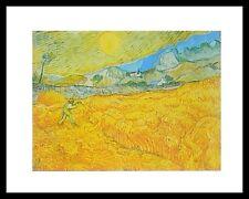 Vincent van Gogh Die Ernte Poster Bild Kunstdruck im Alu Rahmen schwarz 24x30cm