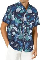 Reyn Spooner Mens T-Shirt Blue Size 2XL Tailored Fit Floral Button Down $98 266