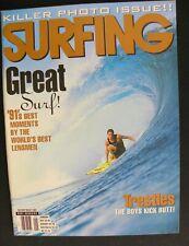 SURFING MAGAZINE UNCIRCULATED 1992 VOL.28 JAN. SURFING HAWAII SURFER LONGBOARD