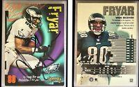 Irving Fryar Signed 1998 SkyBox Thunder #52 Card Philadelphia Eagles Autograph