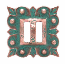 "Slotted Square Concho Copper Patina 1-1/4"" 7485-90S"