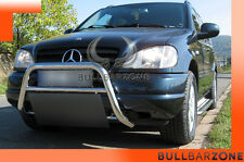 MERCEDES ML 1998-2001 TUBO PROTEZIONE MEDIUM BULL BAR INOX STAINLESS STEEL