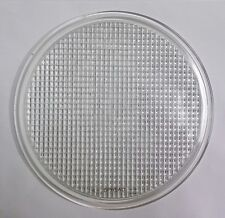 "9"" INCH SPREAD GLASS HEADLITE/HEADLIGHT FLAT LENS SPREADLIGHT LIGHT 23cm ROUND"