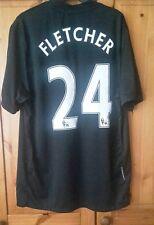 Manchester United Calcio Camicia Taglia M number24 Fletcher
