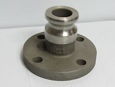 """ETC 316 S/S STAINLESS 4 BOLT FLANGE FLANGED 150LB MALE CAMLOCK CAM LOCK 1-1/2"""""""