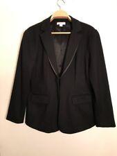 Coldwater Creek Black Shaped Blazer Suit Jacket size 16