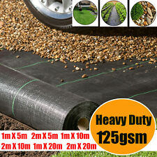 More details for heavy duty 125gsm weed control fabric ground cover membrane garden mat landscape