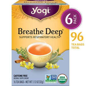 Yogi Tea - Breathe Deep - Supports Respiratory Health - 6 Pack, 96 Tea Bags