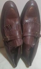 Cote D'Azur Mens Loafers Size 11 Brown Leather