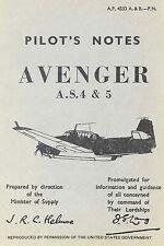 GRUMMAN AVENGER AS4 & 5-PILOT'S NOTES A.P. 4533A&B-P.N.