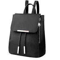 UK Fashion Women Girls PU Leather Shoulder School Travel Bag Backpack Rucksack