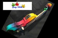 Beautiful Colorful electric & acoustic violin 4/4 huge and perfect sound #8081