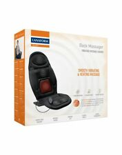 Back massager smooth vibrating heating massage cushion 4 massage areas