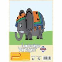 PEBARO Laubsägevorlage Elefant,  3D Figur