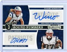 2019 Panini Contenders Chase Winovich/Damien Harris Round Numbers Dual Auto /49