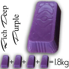 PURPLE coloured parafin candle wax 1.8kg make your own candles no fragrance 1.5