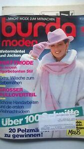 Burda Mode, Schnittmuster Zeitschrift, Oktober 1986, Wäsche, Gr. 36 bis 48