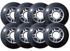 Inline Skate Replacement Wheels 70mm 82A Grey/Black 8 Pack