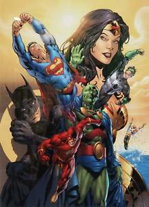 BATMAN SUPERMAN WONDER WOMAN JUSTICE LEAGUE JLA: POWER BEYOND COMPARE LITHO COA