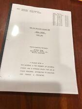 1976 KILL OSCAR script THE SIX MILLION DOLLAR MAN & THE BIONIC WOMAN