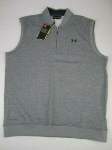 Mens XL Under Armour Storm Golf Fleece Sweater Vest 1/4 zip gray NWT
