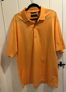 GREG NORMAN Mens Orange Cotton Polo Shirt Size XL NWT