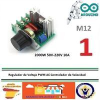 Regulador Voltaje 2000W 50V--220V 10A PWM AC Controlador Velocidad Motor Luz M12