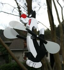"""NEW"" SYLVESTER WHIRLIGIG / WHIRLYGIG / WHIRLYBIRD / GIG / BLACK AND WHITE CAT"