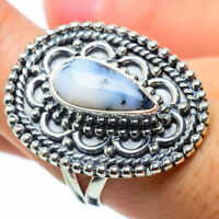Large Dendritic Opal 925 Sterling Silver Ring Size 8.5 Ana Co Jewelry R29853F
