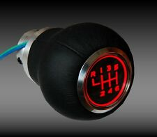 Pomo de palanca de cambio de piel iluminado SEAT AUDI VW SKODA 6 speed