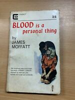 """RARE 1965 1ST EDITION JAMES MOFFATT """"BLOOD IS A PERSONAL THING"""" PB BOOK (P2)"""