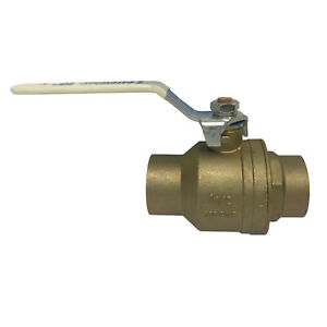 NIBCO S-FP600A-LF 1-½ INCH LEAD FREE BRASS BALL VALVE FP SOLDER CONNECT NOS