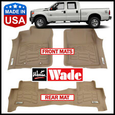 Westin Wade Sure-Fit 2012-2016 Ford F-350 Crew Cab w/ Left Foot Pad Floor Mats