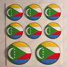 Pegatinas Comoras Pegatina Bandera Comoras Redondas 3D Vinilo Adhesivo Relieve