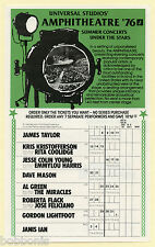 1976 Fleetwood Mac James Taylor Al Green Linda Ronstadt + more Concert Handbill