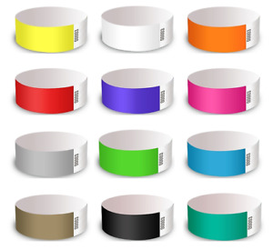 BEST SELLING Tyvek Paper Event Wristbands. Party Event ID Security Admission