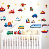 Large Car Train Truck Boat Plane Digger Wall Sticker Decal PVC Art Home Decor