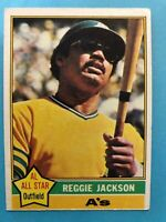1976 Topps Baseball Card #500 Reggie Jackson Oakland Athletics HOF