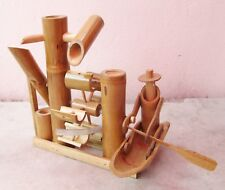 Handmade Bamboo Row Boat Garden Water Fountain FREE WATER PUMP