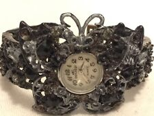 Antique Style Woman's Denacci butterfly Cuff Wrist Watch