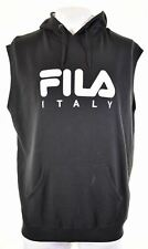 FILA Mens Hoodie Jumper Sleeveless 2XL Black Cotton  MS02