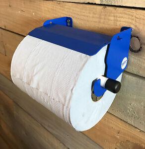 Van Mountable Blue Towel Roll Hanging Holder Dispenser With Stop Brake Workshop